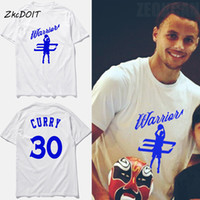 Wholesale Jersey Cotton Tees - Fashion short sleeves t shirt warriors basketball t shirt stephen curry jersey tee shirt homme tops tees clothing,tx2387