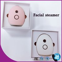 Wholesale Nano Steamer - China wholesale Portable Beauty Hydrating Water Spray Nano Mist Moisturizing Face Care Facial Steamer Spa FREE SHIPPING