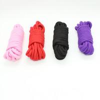 cuerda roja para juego sexual al por mayor-Producto sexual Cuerda de algodón atado bondage BDSM juego cuerda roja juguetes sexuales