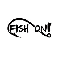 Wholesale Fish Trout - 2017 Hot Sale Car Stying Fish On With Fishing Hook Vinyl Decal Sticker Boat Lake Creek River Bass Trout Jdm
