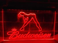 Wholesale Budweiser Led Sign - LE133r- Budweiser Exotic Dancer Stripper Bar LED Light Sign
