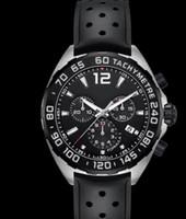 Wholesale Formula Black - 2017 Top High Quality Brand Wrist watch 42 mm Formula 1 CAZ1110.FT8023 Black Dial Quartz Chronograph Black Rubber Bands Mens Watch