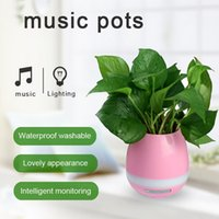 Wireless Bluetooth Música Flower Pots Speakers Inteligente Real Plant Touch Play Colorido Night Light Play Bass Subwoofer Xtreme