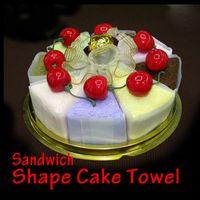 Wholesale Towel Sandwich Gift - Cake Towel Microfiber Towel Creative Sandwich Shape Towel Cotton Washcloth Wedding Favor Creative Gifts