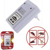 Wholesale cockroach traps - NEW RIDDEX electronic pest repeller pest repelling aid ultrasonic   electromagnetic Anti Mosquito Mouse Insect Cockroach Control LLFA