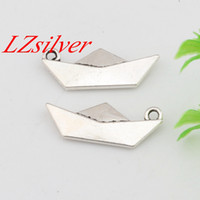 Charms origami boats - Hot Sales Antique Silver Zinc Alloy Origami Paper Boat Folding Art Charms x25mm DIY Jewelry