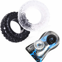 Wholesale free cockring sex resale online - Silicone Tire Penis Ring Delayed Ejaculation Cock Rings Sex Cockring Adult Products for Male