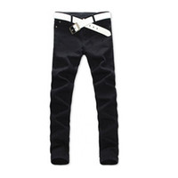 Wholesale Skinny Jeans Wholesale Prices - Wholesale- 2017 Men Casual Jeans Mid Pencil Pants Stylish Designed Straight Slim Fit Trousers Factory Price