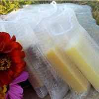 Wholesale Body Soaps - Wholesale-10pcs lot Soap blister mesh double-layer soap net Foaming Net easy bubble mesh bag