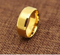 Wholesale 24k Gold Plated Wedding Bands - wedding ring lover Stainless Steel 24K Yellow-Gold-Plated 9mm Plain Men's and Women's Wedding Band Ring Engagement US Size 5-14