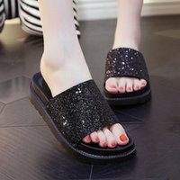 Wholesale Gold Flat Wedge Sandals - Summer 2017 new leather sandals and slippers women platform sandals shoes wedges platform shoes with comfort in Korea