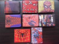 Wholesale Vintage Superheroes - Marvel DC Superhero Anime Wallet The Avengers Hero Spider-Man Wallet Cute Teenager Boy's Spider Spiderman Wallet & Purse Leather