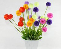 Wholesale Green Hyacinth - 5 onion ball bouquet 6 color selection 50cm hyacinth flower ball lavender grass ball fake flower simulation flower wholesale