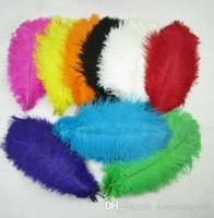 Wholesale feathers 25 inches online - 10 inch cm multi color beautiful ostrich feathers for Wedding centerpiece Table centerpieces Party Decoraction supply z134