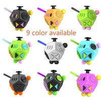 Wholesale Plastic Dice Toy - Fidget Cube 2 Toy Stress Relief 12-side Dice For Adult Girls Boys Gift Magic Anti Irritability Depression Desk Dice