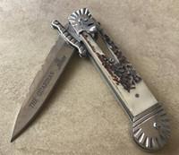 ingrosso coltelli hubertus-Classico coltello divertente freeshipping Hubertus Solingen patrono guardiano da 8,5 pollici con confezione regalo Antler manico tasca pieghevole campeggio coltello push