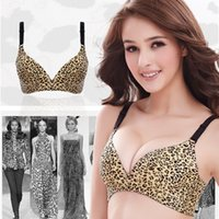 8fa29a3336284 New Arrivals Women Fashion Sexy Seamless bra Golden Silver Leopard Print Push  up one piece bra Padded free shipping H261