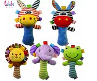 Wholesale Newborn Easter Gifts - Newborn baby Toys Mobile infant Plush Toy Bed Wind Chimes Rattles Bell Toys Stroller for child toddler kids gifts animal Plush Rattle EMS