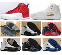 Wholesale Wool Shoes Man - High Quality Retro 12 OVO Gym Red Wool Taxi Basketball Shoes Men Women 12s Flu Game Black Nylon PSNY Sneakers With Shoes Box