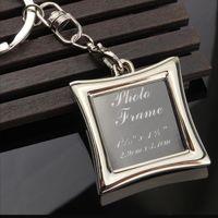 Wholesale Digital Photo Frame Key Ring - Vogue Insert Photo Picture Frame Custom Keyring Key Ring Keychain Lover DIY Gift high quality free shipping