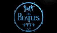 LS1355-b-The-Beatles-Band-Música-Bateria-néon-luz-Sinais
