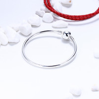 Wholesale Genuine 925 Sterling Silver Charms - Genuine 925 Sterling Silver Bangle Bracelet Fit Pandora Charms Beads Factory Wholesale