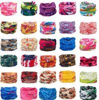 Wholesale tie dye bandana wholesale - Fashion Multifunctional scarf Outdoor Cycling Seamless bandana Magic multifunctional Turban Sunscreen Hot Hair band Hot Selling C016