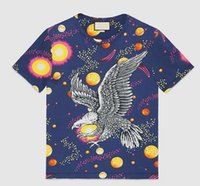 Travel 2017 O-Neck T-Shirts Hombres Hawks Sun T-shirt Male Herren Clothes Cotton Eagle Planet Top T-shirts Moda de manga corta