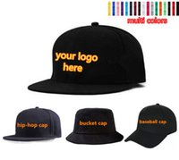 Wholesale Embroidered Hat Custom - LOGO Custom Embroidered Hats Baseball Snapbacks Printing Embrodiery Caps For Adults Mens Womens Children Kids Size Fitted Fishing Hats Sale