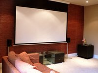 Wholesale Aluminum Cinema Motorized Projection Screen with Fiberglass Matte White Screen