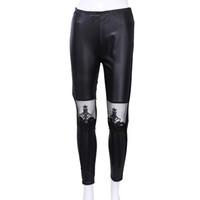 Wholesale Wholesale High Waisted Leggings - Wholesale- Lady High Waisted Women's Sexy Faux Leather Stretch Skinny Pants Slim Leggings