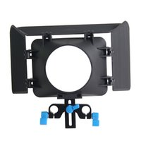 Wholesale Lightweight mmm Rail Rod Base Plate DSLR Rig Matte Box For Cameras and Camcoders