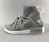 Wholesale Cheap Soccer Knits - Discount Cheap New NMD XR1 Running Shoes for Men and Womens NMD High Top Sneakers Grey Color Knitting Boots Size US5-11 Drop Shipping