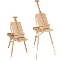 Wholesale Wooden Easels - French Easel Wooden Sketch Box Portable Folding Art Artist Painters Tripod New