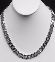 """Wholesale 14kt Yellow Gold Necklace - 14kt solid White gold HEAVY handmade Curb Link mens Necklace 18"""". 115 Grams"""