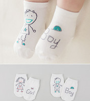 Wholesale Cotton Newborn Baby Socks - Unisex Newborn Baby Girl Boy Cute Hand Printed Style Socks Kids Child Soft Stylish meias infantil