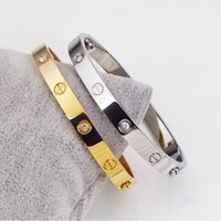 Wholesale Top Quality Screwdrivers - top quality jewelry fashion men and women love titanium steel bangle gold and silver and rose gold lovers screws bracelets with screwdriver