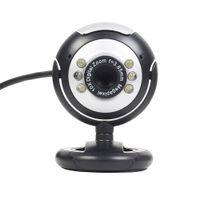 micrófono para pc skype al por mayor-USB 6 LED 12.0 megapíxeles USB PC Webcam Cámara web + Visión nocturna + Micrófono / Micrófono para MSN, ICQ, AIM, Skype