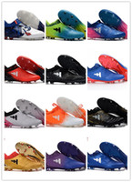 Wholesale Golf Shoes Brown Leather - Laceless X 16+ Purechaos FG AG Soccer Shoes Messi Purechaos FG Football Shoes Soccer Boots Men Boots Purechaos Soccer Football Cleats 39-45