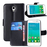Wholesale Ot Cover - New A rrival Litchi Pattern Case For Alcatel One Touch POP S3 OT-5050 OT 5050 5050Y 5050X Wallet Cover With Card Slots Holde