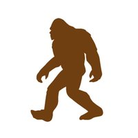 Wholesale Brown Tail - Wholesale 20pcs lot Vinyl Decals Car Stickers Glass Stickers Scratches Stickers Wall Die Cut Bumper Accessories Jdm Bigfoot Sasquatch Yeti