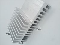 Wholesale Custom Sinks - Hot sale square anodized silver heat sink 95.5*32.8-200 custom aluminum heatsink