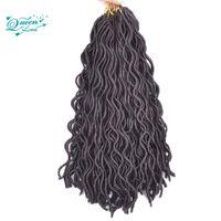 Wholesale Crochet Pieces - 18 inch Afro Fashion crochet curly dreadlocks hair Synthetic Crochet Braiding hair Havana Mambo Faux Locs Weaving 24roots lot