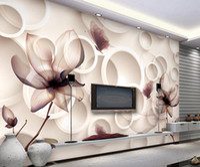 Wholesale magnolia wall - Magnolia flower TV background wallpaper 3D living room murals wallpaper for walls 3 d for living room