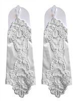 accessoires pour robe à paillettes achat en gros de-Blanc Fingerless Perles De Mariée Gants Sequin Applique Robe De Mariée Parti Gants Pas Cher Accessoires De Mariage En Stock Livraison Gratuite Nouvelle Arrivée