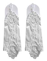 vestido de casamento lantejoulas brancas venda por atacado-Branco Sem Dedos Contas Luvas De Noiva Lantejoula Applique Vestido de Noiva Luvas De Festa Acessórios Do Casamento Barato Em Estoque Frete Grátis New Arrival