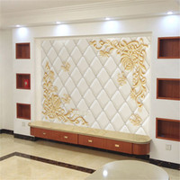Wholesale Japan Wall Painting - TV background wallpaper wall wallpaper 3D relief relief suitcase wall painting living room European style wallpaper wall cloth