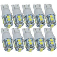Wholesale Led Indicator Lights Bulbs - 10pcs lot w5w T10 LED 3528 1210 194 10 SMD led wedge bulb for Car Side Indicator Light Lamp Bulb