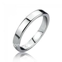 Wholesale Cheap Mens Tungsten Wedding Bands - yizhan Free Shipping Cheap Price Jewelry USA Brazil Russia Hot Sales His Her 3MM Silver Siny Flat Tungsten Ring Mens Wedding Band