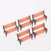 Wholesale Bench Garden - 5x Model Bench Chair Scale Train Platform Garden Park Street Scenery Layout